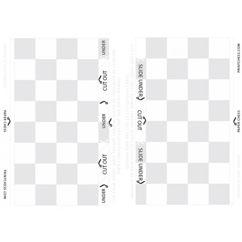 picture regarding Chess Board Printable named Free of charge Printable Paper Chess Fixed (3D) - Print Paper Chess